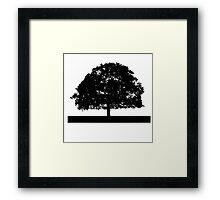 Black and White Tree Clip Art Framed Print