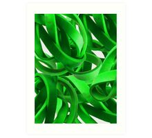 Entanglement in Green Art Print