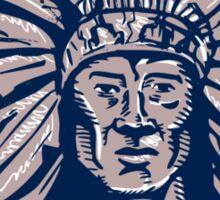 Native American Indian Chief Warrior Etching Sticker