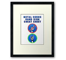 HEAVY METAL HANDS CHEAT SHEET Framed Print