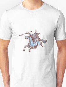 Valkyrie Warrior Riding Horse Spear Etching Unisex T-Shirt
