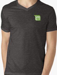 Linux Mint Flat Mens V-Neck T-Shirt