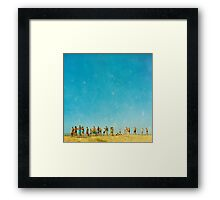 the spectacle Framed Print