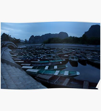 Tam Coc Boats Poster
