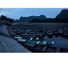 Tam Coc Boats Photographic Print