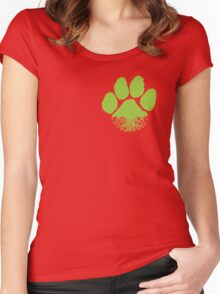 F&F Earth Lover Paw Women's Fitted Scoop T-Shirt
