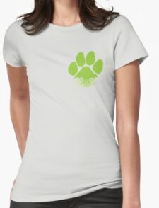F&F Earth Lover Paw Womens Fitted T-Shirt