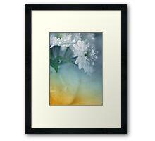 Whispery White Vintage in Vase Framed Print