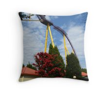 Colors of Amusement--Tree and Coaster Throw Pillow