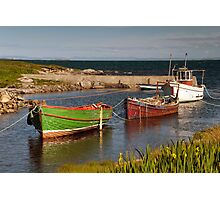 Berneray: Wee Harbour Photographic Print