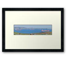 shuttle tankers, Brewick Bay Shetland. Framed Print