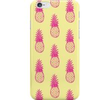 pineapple pattern magenta/lemon iPhone Case/Skin