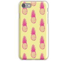 pineapple pattern magenta/lemon iPhone Case/Skin