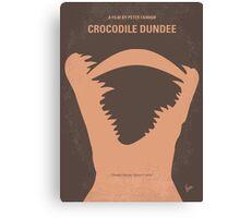 No210 My Crocodile Dundee minimal movie poster Canvas Print