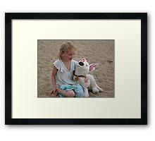 Kaara with her friend Bolt. Framed Print