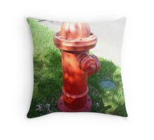Red Hydrant-Dog's Best Friend Throw Pillow