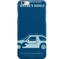 No211 My Waynes World minimal movie poster iPhone Case/Skin