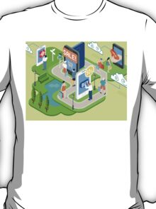 Isometric Virtual Shopping Concept T-Shirt