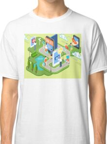 Isometric Virtual Shopping Concept Classic T-Shirt