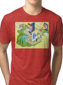 Isometric Virtual Shopping Concept Tri-blend T-Shirt