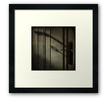 The handle  Framed Print