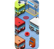 Isometric Rainbow Buses  iPhone Case/Skin
