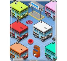 Isometric Rainbow Buses  iPad Case/Skin
