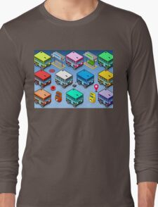 Isometric Rainbow Buses  Long Sleeve T-Shirt