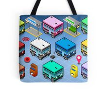 Isometric Rainbow Buses  Tote Bag