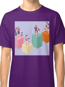 Isometric Infographic Family Types - LGBT included Classic T-Shirt