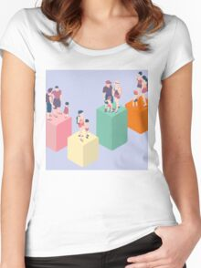 Isometric Infographic Family Types - LGBT included Women's Fitted Scoop T-Shirt