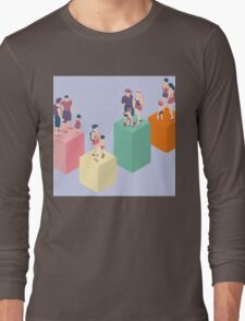 Isometric Infographic Family Types - LGBT included Long Sleeve T-Shirt