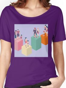 Isometric Infographic Family Types - LGBT included Women's Relaxed Fit T-Shirt