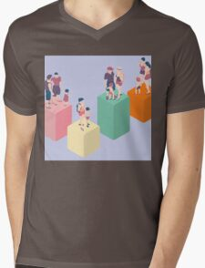 Isometric Infographic Family Types - LGBT included Mens V-Neck T-Shirt