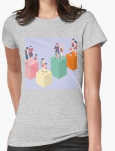 Isometric Infographic Family Types - LGBT included Womens Fitted T-Shirt