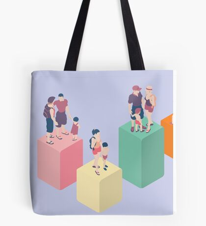 Isometric Infographic Family Types - LGBT included Tote Bag