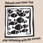 Swimming against the stream Tee by Gudrun Eckleben