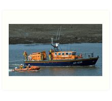 Fleetwood Lifeboats Art Print