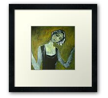 Girl in the door Framed Print