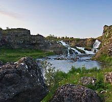 Waterfalls in Ellida River #1 by Stefán Kristinsson