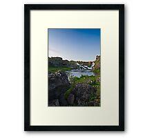 Waterfalls in Ellida River #1 Framed Print