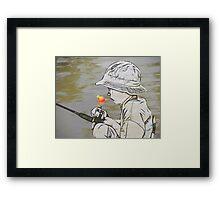 Here Fishy Fishy Fishy Framed Print