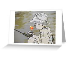 Here Fishy Fishy Fishy Greeting Card