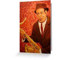 Portrait of Jazz Greeting Card