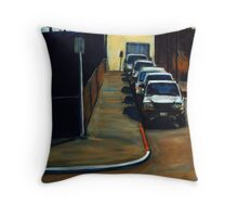 Company Parking Throw Pillow
