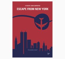 No219 My Escape from New York minimal movie poster T-Shirt