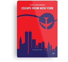 No219 My Escape from New York minimal movie poster Metal Print