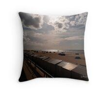 Evening Light at De Haan - Belgium Throw Pillow