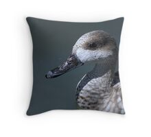 Marbled Teal Throw Pillow