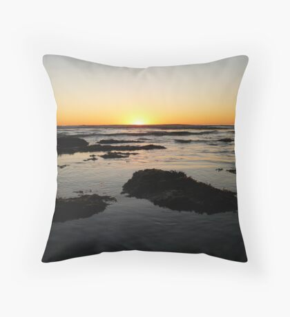 Sunset, Waves, Flotsam & Jetsam Throw Pillow